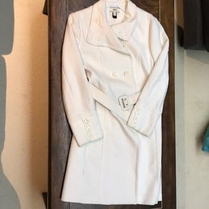 MNG Long Cream White Trench